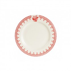 Assiettes à dessert Damier Rouge Comptoir de Famille