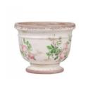 Pot de fleurs Toulouse motifs rose Chic Antique