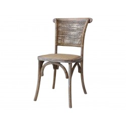 Chaise dos osier Chic Antique