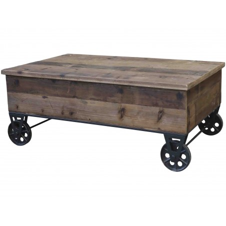 Table basse sur roulettes Chic Antique