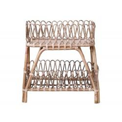 Table tressée avec étagère Chic Antique