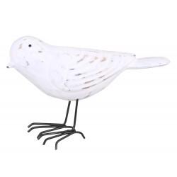 Oiseau en bois blanc Chic Antique