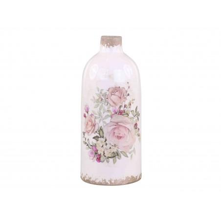 Vase avec motifs rose Chic Antique