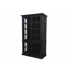 Vitrine 4 portes noire Chic Antique