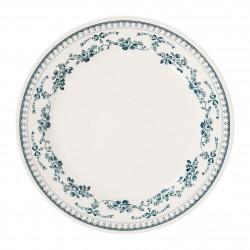 Assiettes plates Faustine Bleues Comptoir de Famille par 6