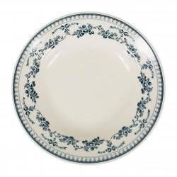 Assiettes creuses Faustine Bleues Comptoir de Famille par 6