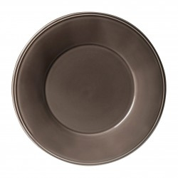 Assiettes plates Constance Poivre Comptoir de Famille par 6