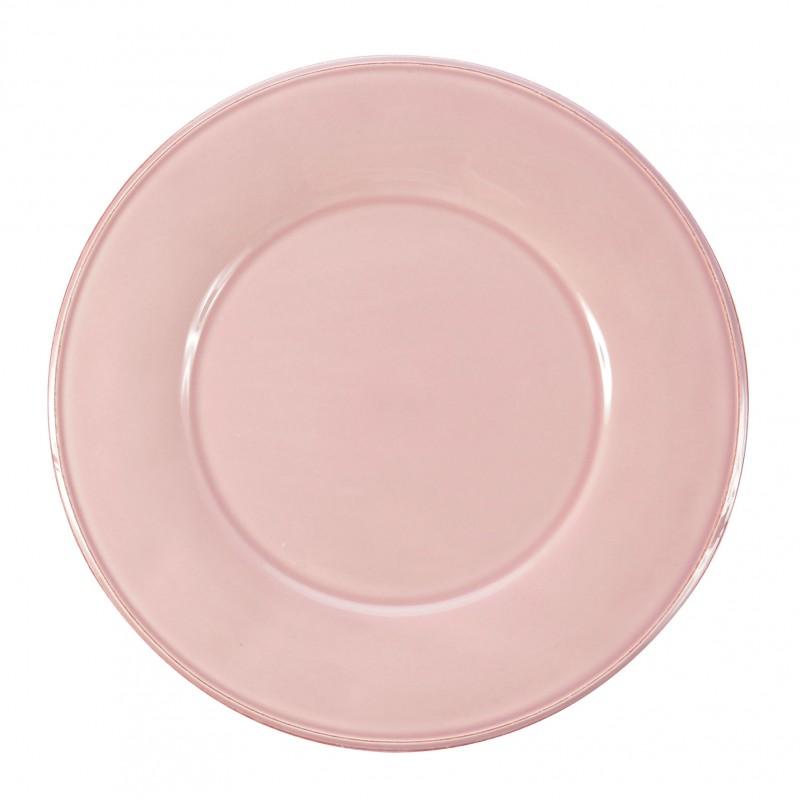 Assiette à dessert Constance rose Comptoir de Famille par 6