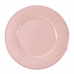 Assiettes plates Constance rose Côté Table par 6