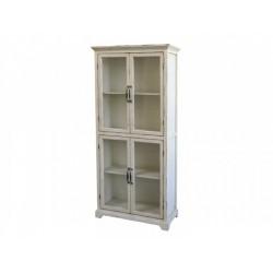 Vitrine 4 portes blanche Chic Antique