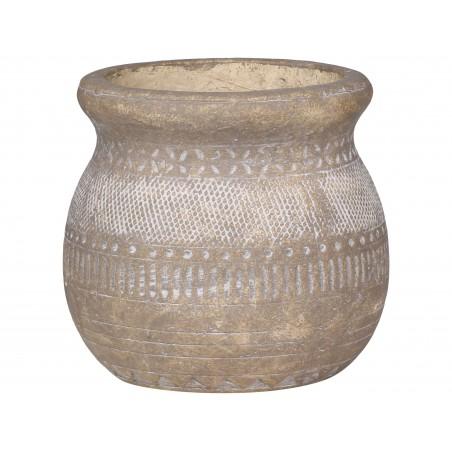 Pot de fleurs avec motif Chic Antique