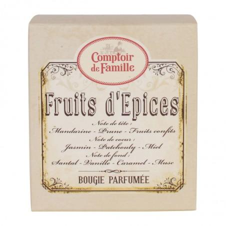 Bougie parfumée Fruit d'épice Comptoir de Famille