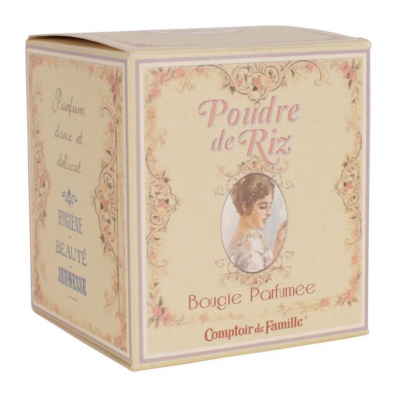 Bougie parfumée Poudre de riz Comptoir de Famille